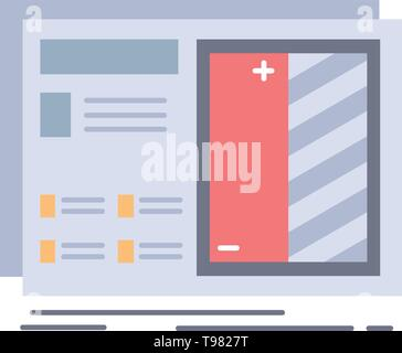 Blueprint, design, drawing, plan, prototype Flat Color Icon Vector - Stock Photo