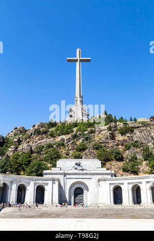 Valley of the Fallen, Valle de Los Caidos , the burying place of the Dictator Franco on the Sierra the Guadarrama, Madrid, Spain - Stock Photo