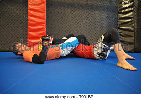 mma, mixed martial arts - Stock Photo