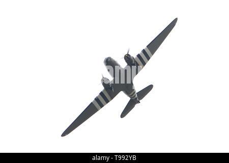 Douglas Skytrain, C-47,  D-day 1944 - Stock Photo