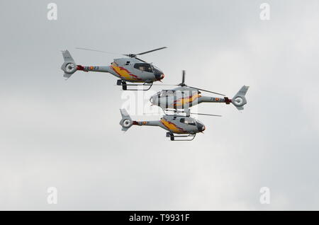 helicopter crash, air collision - Stock Photo