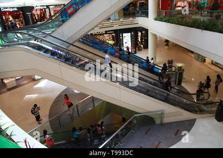 Singapore Mass Rapid Transit, (MRT) underground metro system - Stock Photo