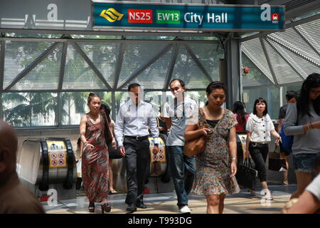 Mass Rapid Transit, MRT Metro system, Singapore - Stock Photo