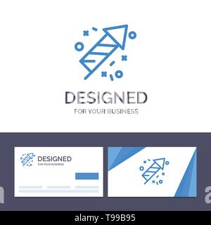 Creative Business Card and Logo template Fire Work, Fire, Canada, Vector Illustration - Stock Photo