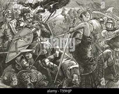 The Battle of Flodden, 9 September 1513 - Stock Photo