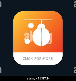 Bag, Boxer, Boxing, Punching, Training Mobile App Button. Android and IOS Glyph Version - Stock Photo