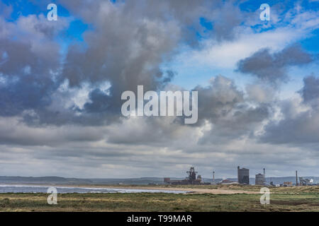 British Steel shut down and abandoned. Located on the north east coast of England. - Stock Photo