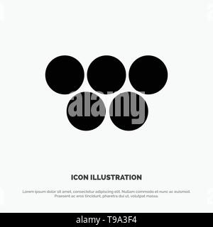 Ancient, Greece, Greek, Olympic Games solid Glyph Icon vector - Stock Photo