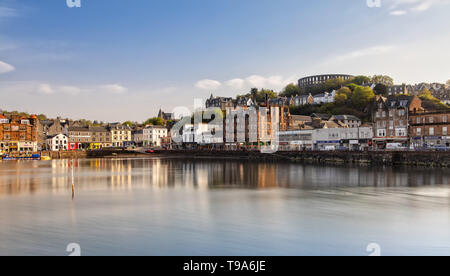 Scenic View over Oban in Scotland - Stock Photo