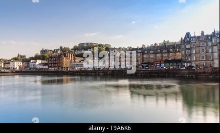 Scenic View over Oban in Scotland - Stock Photo