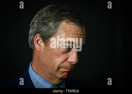 Edinburgh, Scotland, UK. 17th May 2019. Nigel Farage in Edinburgh for a rally with the Brexit PartyÕs European election candidates. Credit: Steven Scott Taylor/Alamy Live News - Stock Photo