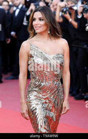 Eva Longoria attending the 'Rocketman' premiere during the 72nd Cannes Film Festival at the Palais des Festivals on May 16, 2019 in Cannes, France - Stock Photo