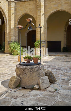 Patio of the Cathedral of Baeza, Jaén, Andalusia, Spain. - Stock Photo