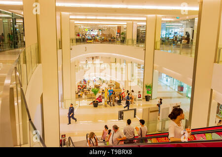 Bangkok, Thailand, March 2013 Modern interior of Siam Shopping Mall. Siam is one of the most popular shopping centers in Bangkok - Stock Photo