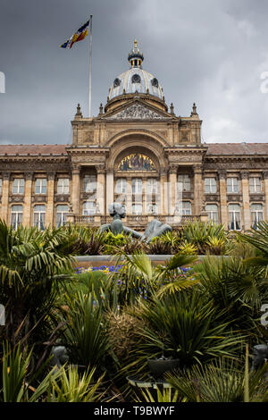 Birmingham Council House looking from the bottom of Victoria Square - Stock Photo