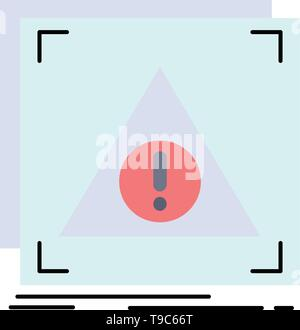 Error, Application, Denied, server, alert Flat Color Icon Vector - Stock Photo
