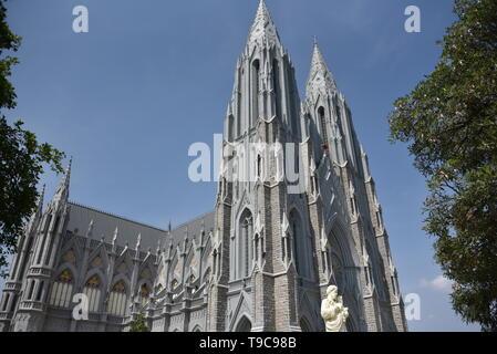 Cathedral of St. Joseph and St. Philomena, Mysore, Karnataka, India - Stock Photo