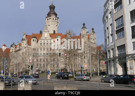 LEIPZIG, GERMANY - FEBRUARY 23, 2019: The new Town hall of the City of Leipzig - Stock Photo