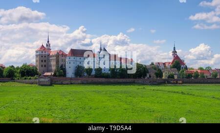 Torgau Burg Hartenfels in Sachsen - Hartenfels Castle in Torgau, Saxony Germany - Stock Photo