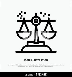 Choice, Conclusion, Court, Judgment, Law Line Icon Vector - Stock Photo