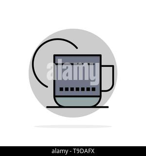 Tea, Hot, Hotel, Service Abstract Circle Background Flat color Icon - Stock Photo