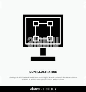 Crop, Graphics, Design, Program, Application solid Glyph Icon vector - Stock Photo