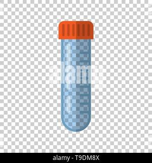 Chemistry beakers sign icon in transparent style. Flask test tube vector illustration on isolated background. Alchemy business concept. - Stock Photo