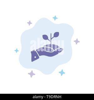 Growth, Charity, Donation, Finance, Loan, Money, Payment Blue Icon on Abstract Cloud Background - Stock Photo