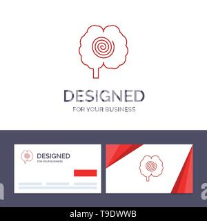 Creative Business Card and Logo template Brain, Head, Hypnosis, Psychology Vector Illustration - Stock Photo