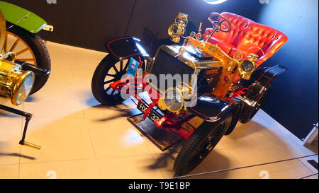 THE HAGUE, THE NETHERLANDS - APRIL 21, 2019: The historic race car from the Movie: Genevieve, inside of the famous Louwman Museum - Stock Photo