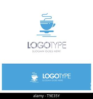 Tea, Cup, Hot, Hotel Blue Logo vector - Stock Photo
