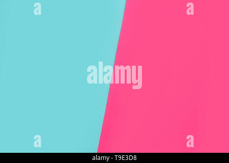 colorful paper background. Blue and pink shades. Close up, top view - Stock Photo