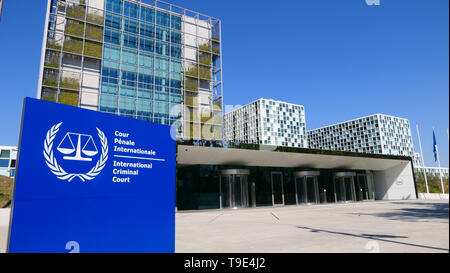 THE HAGUE, THE NETHERLANDS - APRIL 21, 2019: The International Criminal Court in the City of The Hague - Stock Photo