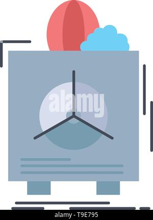 insurance, Fragile, product, warranty, health Flat Color Icon Vector - Stock Photo