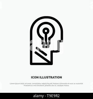 Business, Head, Idea, Mind, Think Line Icon Vector - Stock Photo