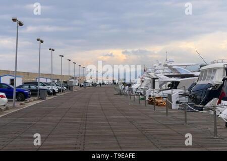 The Zaitunay Bay marina in Beirut, Lebanon - Stock Photo