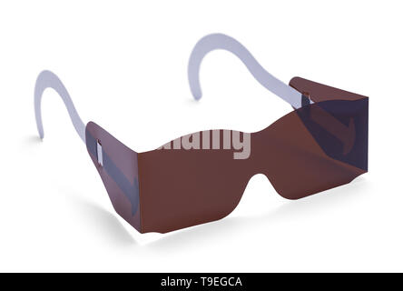 Eye Exam Sun Glasses Isolated on White Background. - Stock Photo
