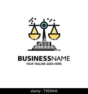 Choice, Conclusion, Court, Judgment, Law Business Logo Template. Flat Color - Stock Photo
