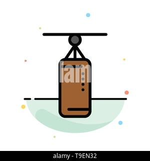 Bag, Boxing, Punch bag, Punching Abstract Flat Color Icon Template - Stock Photo