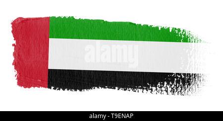 Brushstroke Flag United Arab Emirates - Stock Photo