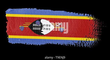 Brushstroke Flag Swaziland - Stock Photo