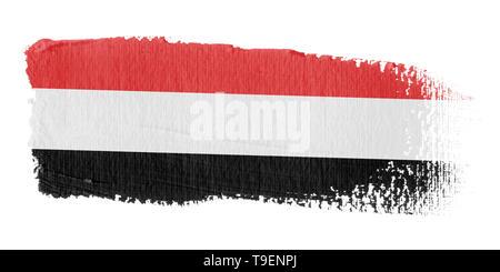 Brushstroke Flag Yemen - Stock Photo