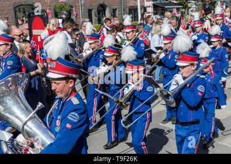 17th May Norwegian Constitution Day celebrations in Sandefjord - Stock Photo