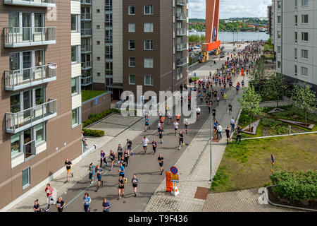 Gothenburg, Sweden - May 18 2019 Gothenburg half marathon. One of the worlds biggest half marathon event, with over 60 000 runners. - Stock Photo