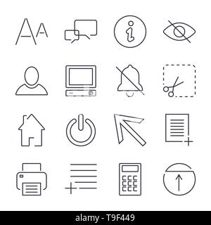 Different universal icons for apps, sites, programs and others. Editable Stroke. - Stock Photo