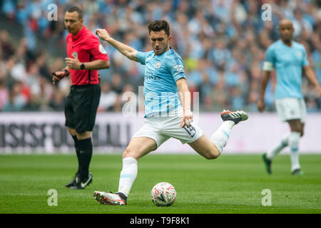 Wembley Stadium, London, England, UK 18th May 2019. Aymeric Laporte of Manchester City during The FA Cup Final match between Manchester City and Watford at Wembley Stadium, London, England on 18 May 2019. Photo by Salvio Calabrese.  Editorial use only, license required for commercial use. No use in betting, games or a single club/league/player publications. Credit: UK Sports Pics Ltd/Alamy Live News - Stock Photo