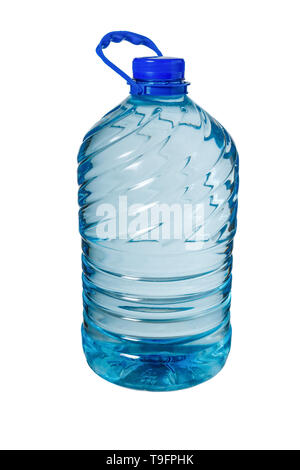 Big bottle of water isolated on a white background, Five liters - Stock Photo