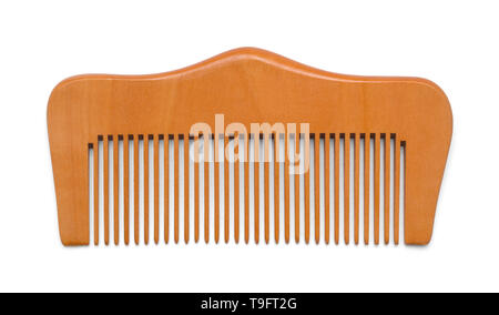 Wood Hand Comb Isolated on White Background. - Stock Photo