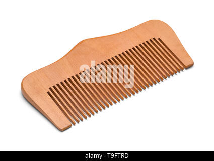 Wood Hand Comb Isolated on a White Bakground. - Stock Photo