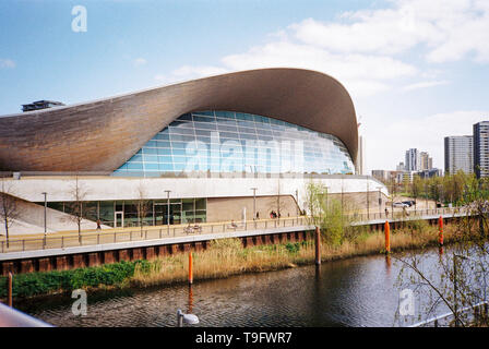 London Aquatics Centre, London, England, United Kingdom. - Stock Photo